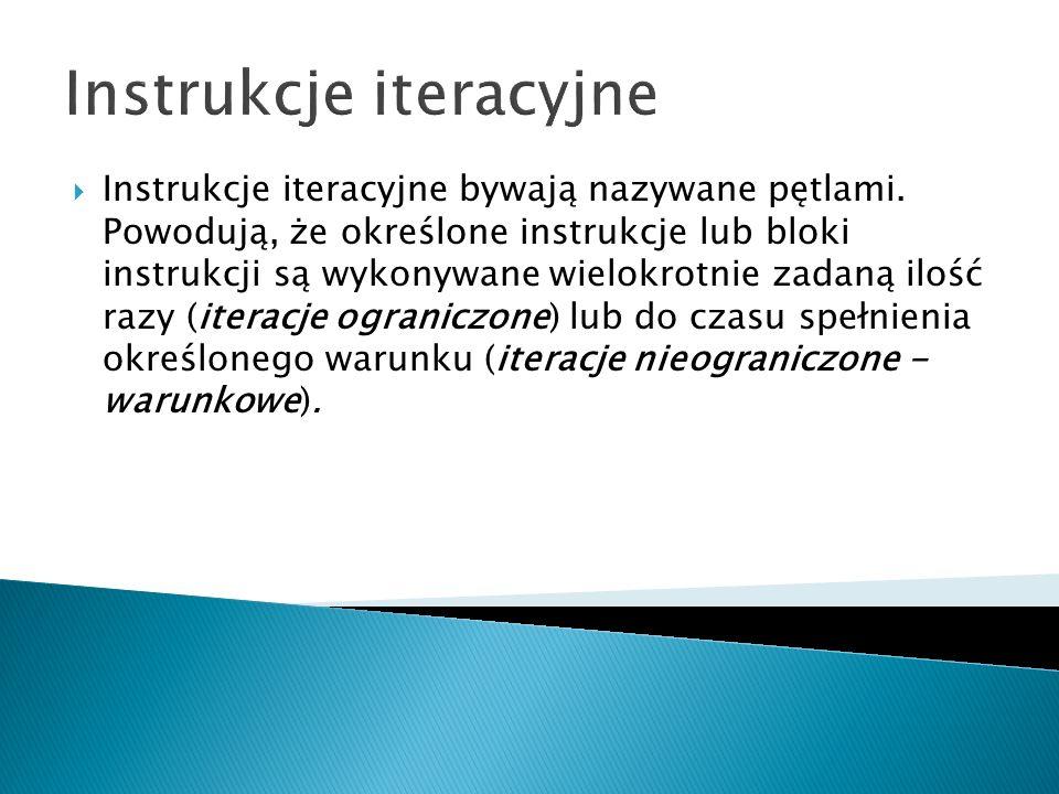 Instrukcje iteracyjne