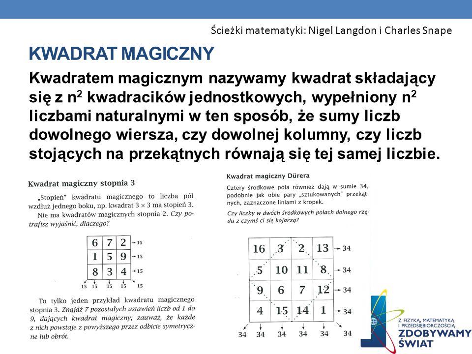 Ścieżki matematyki: Nigel Langdon i Charles Snape