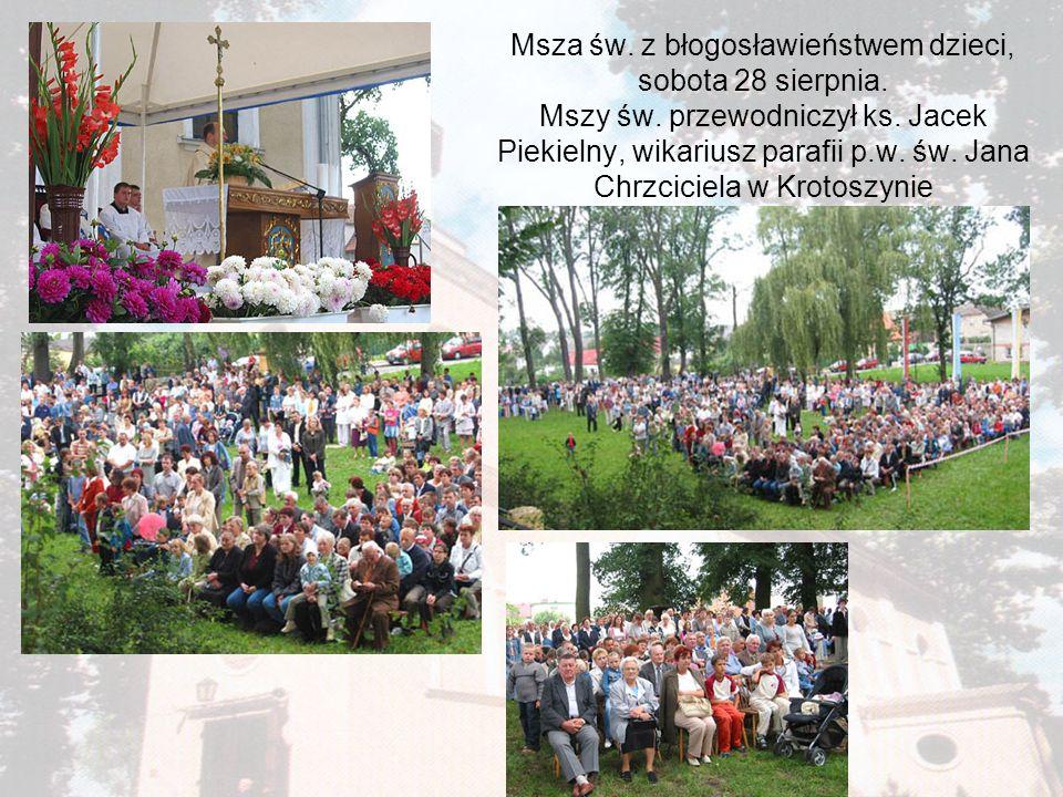 Msza św. z błogosławieństwem dzieci, sobota 28 sierpnia. Mszy św