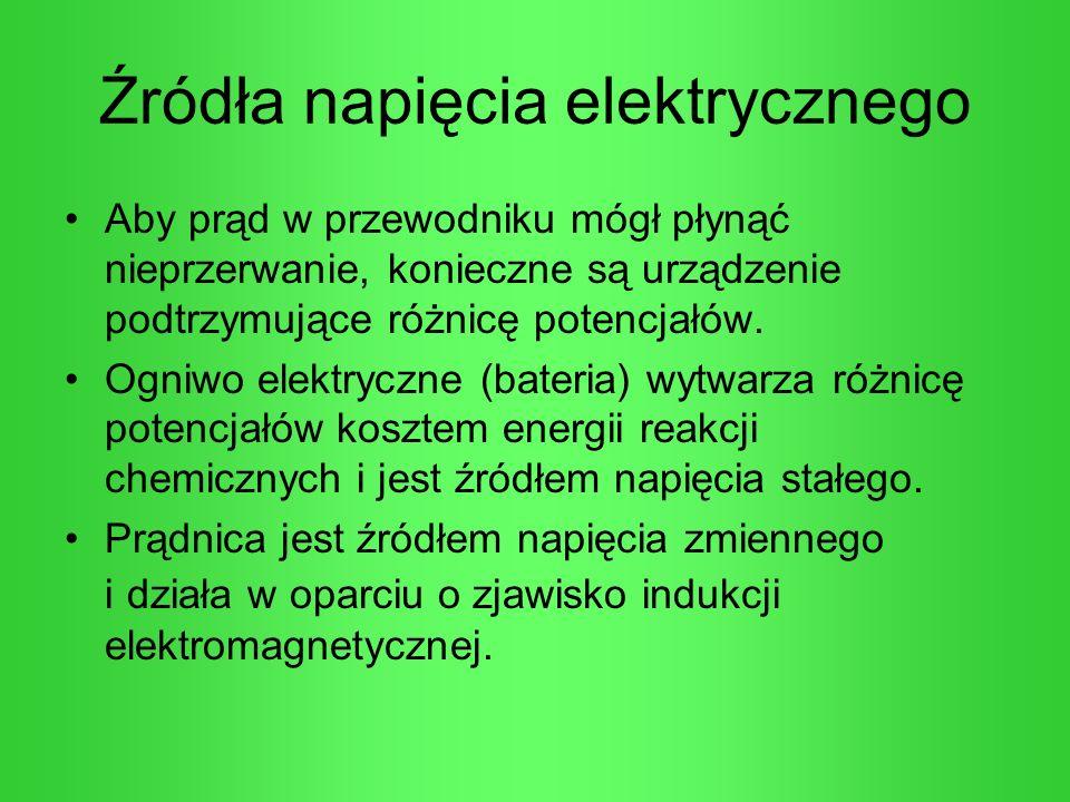 Źródła napięcia elektrycznego