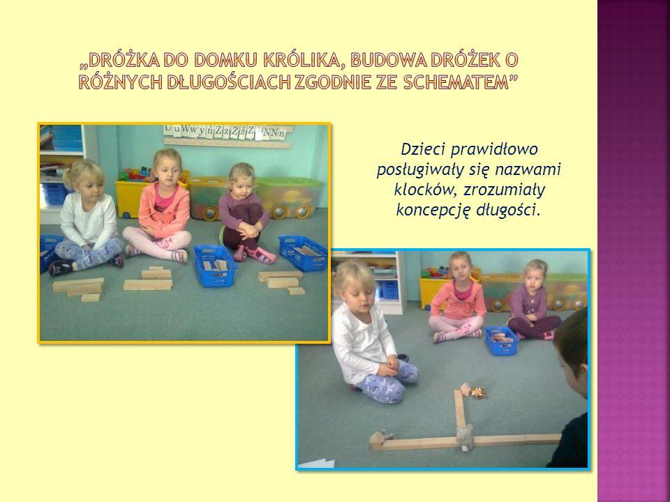 """""""Dróżka do domku królika, budowa dróżek o różnych długościach zgodnie ze schematem"""