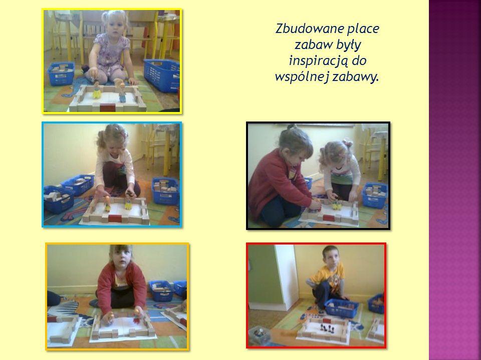 Zbudowane place zabaw były inspiracją do wspólnej zabawy.