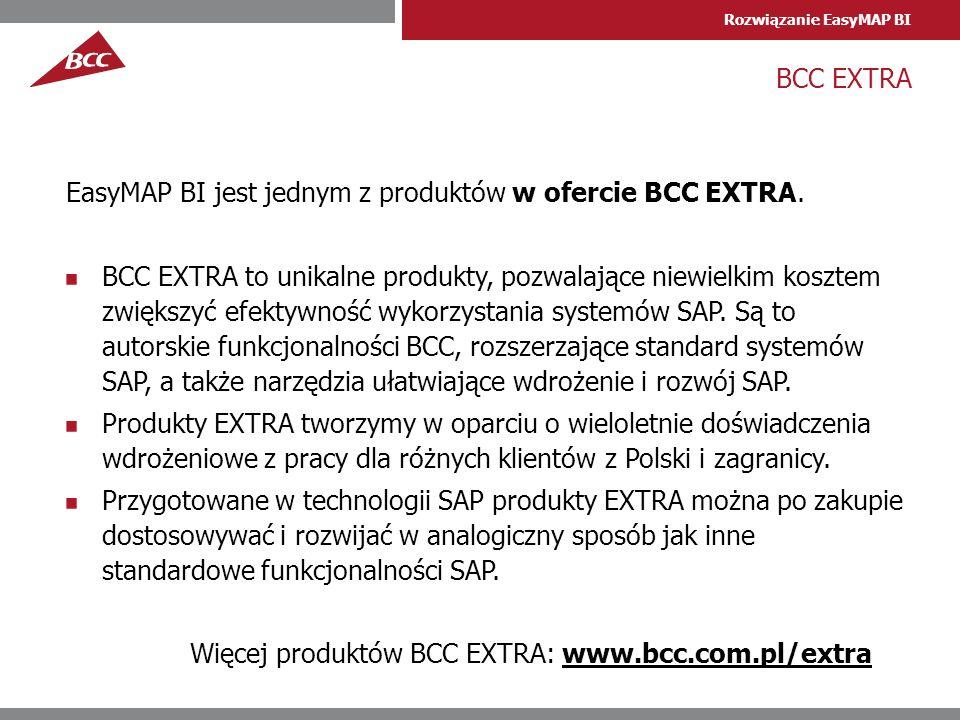 BCC EXTRA EasyMAP BI jest jednym z produktów w ofercie BCC EXTRA.