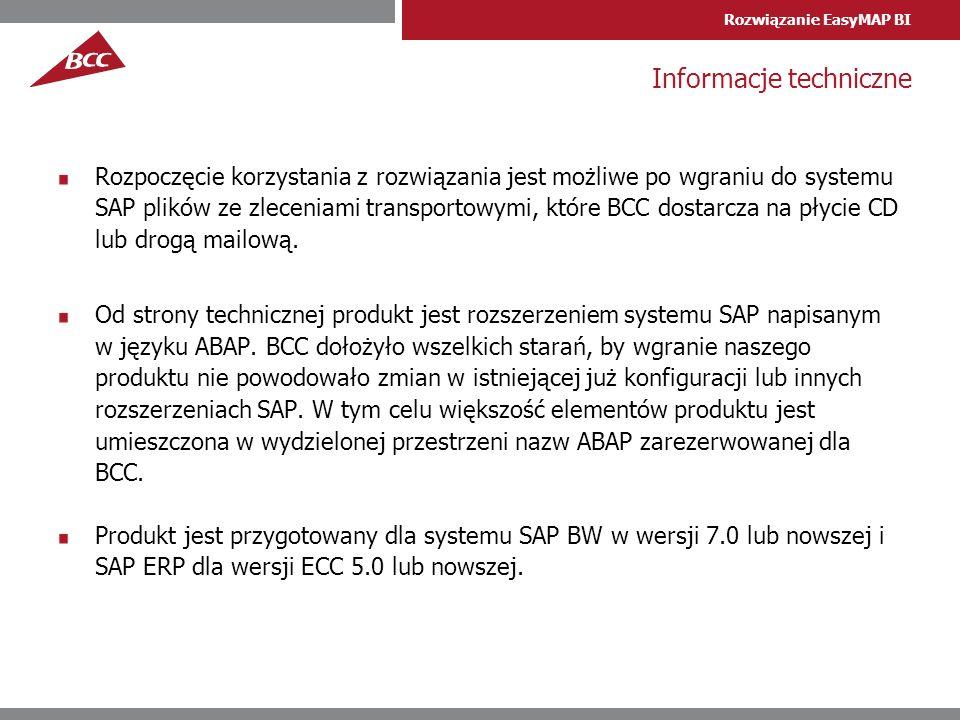 Informacje techniczne