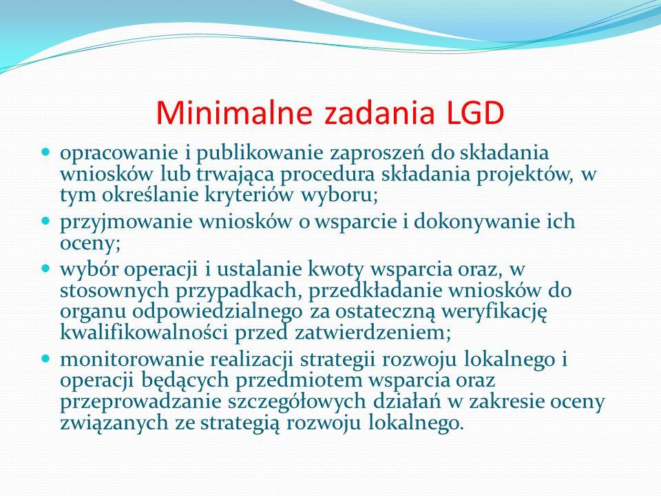 Minimalne zadania LGD