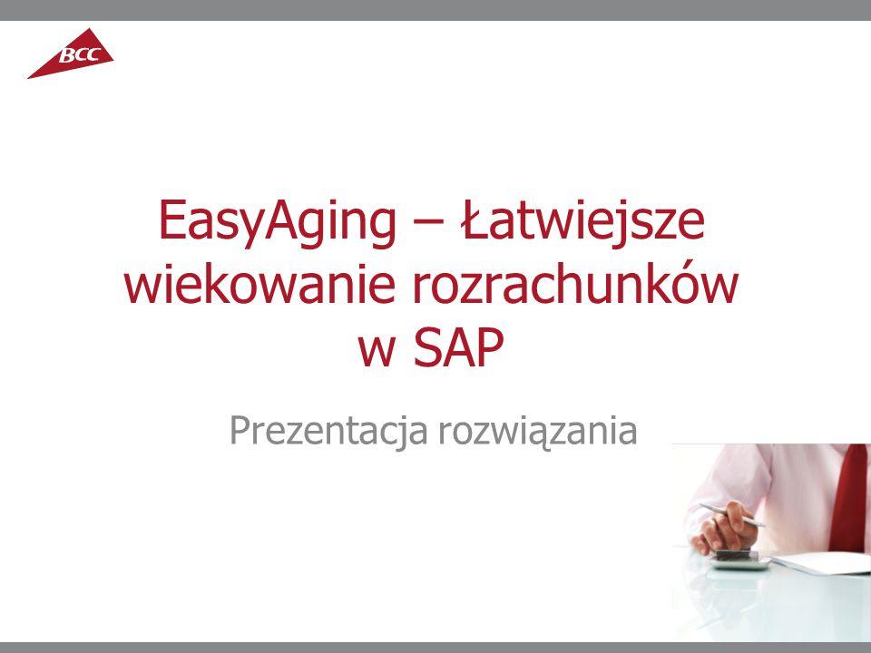 EasyAging – Łatwiejsze wiekowanie rozrachunków w SAP