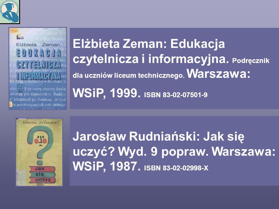 Elżbieta Zeman: Edukacja czytelnicza i informacyjna
