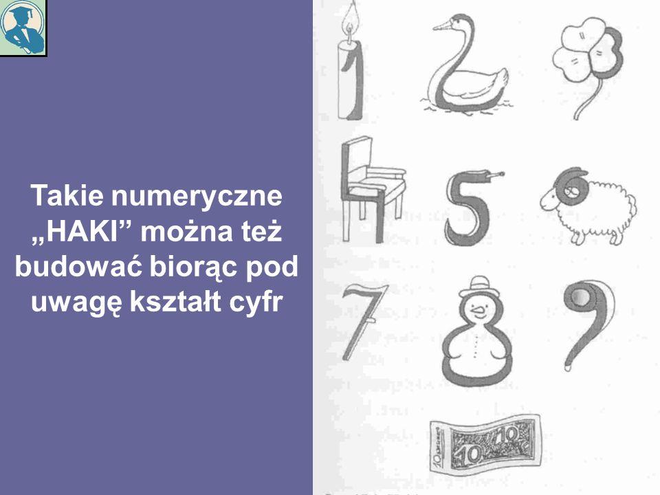 """Takie numeryczne """"HAKI można też budować biorąc pod uwagę kształt cyfr"""
