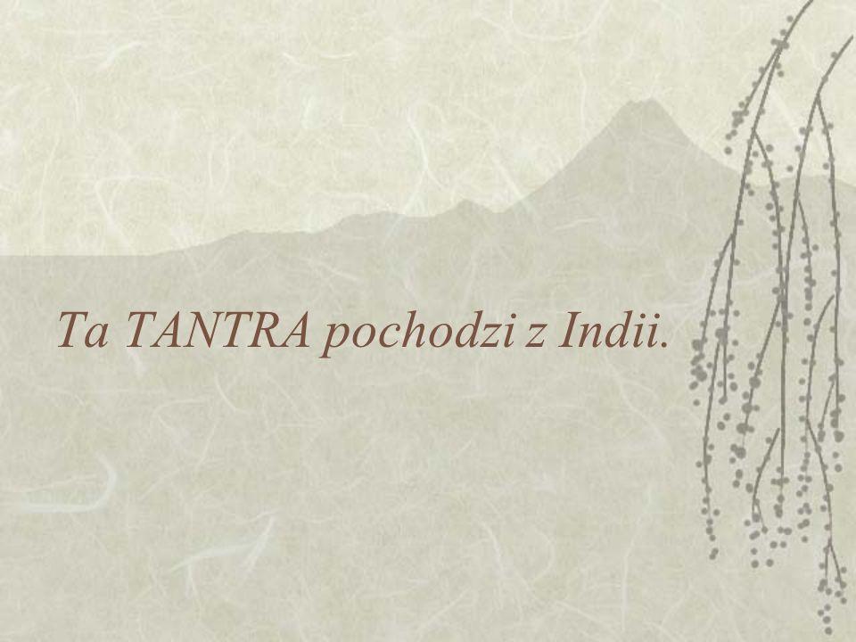Ta TANTRA pochodzi z Indii.