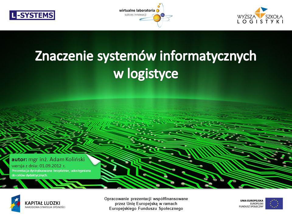 Znaczenie systemów informatycznych w logistyce