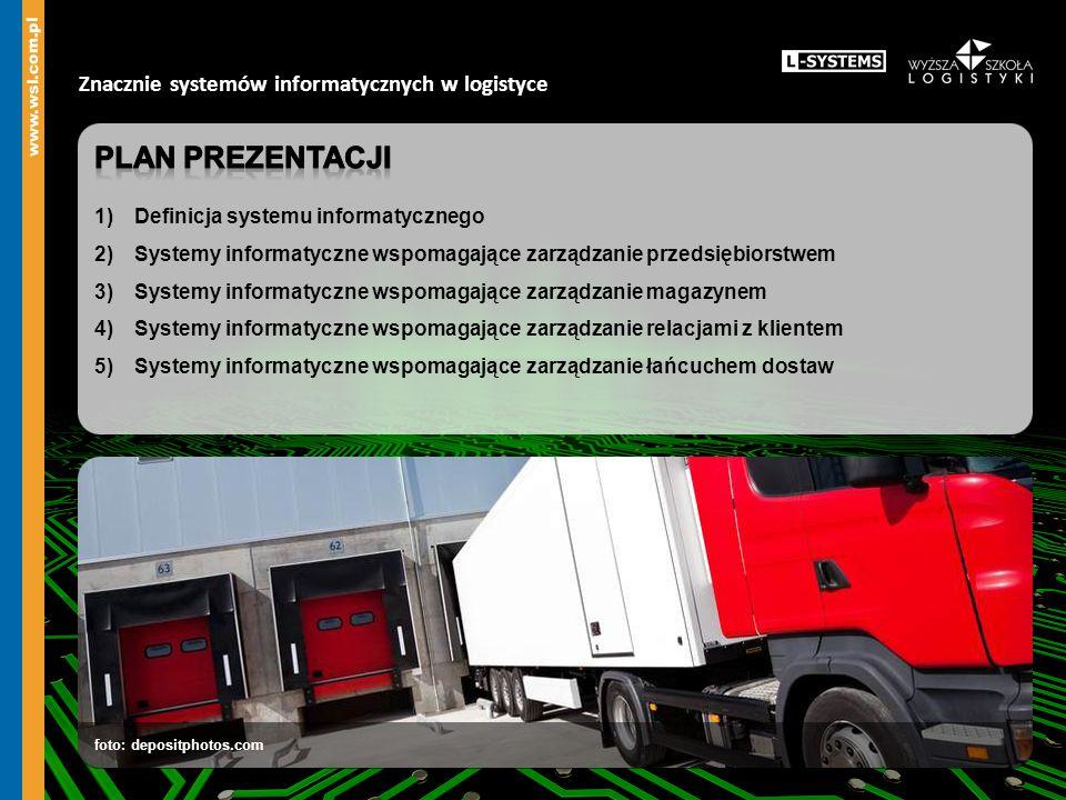 Plan prezentacji Znacznie systemów informatycznych w logistyce
