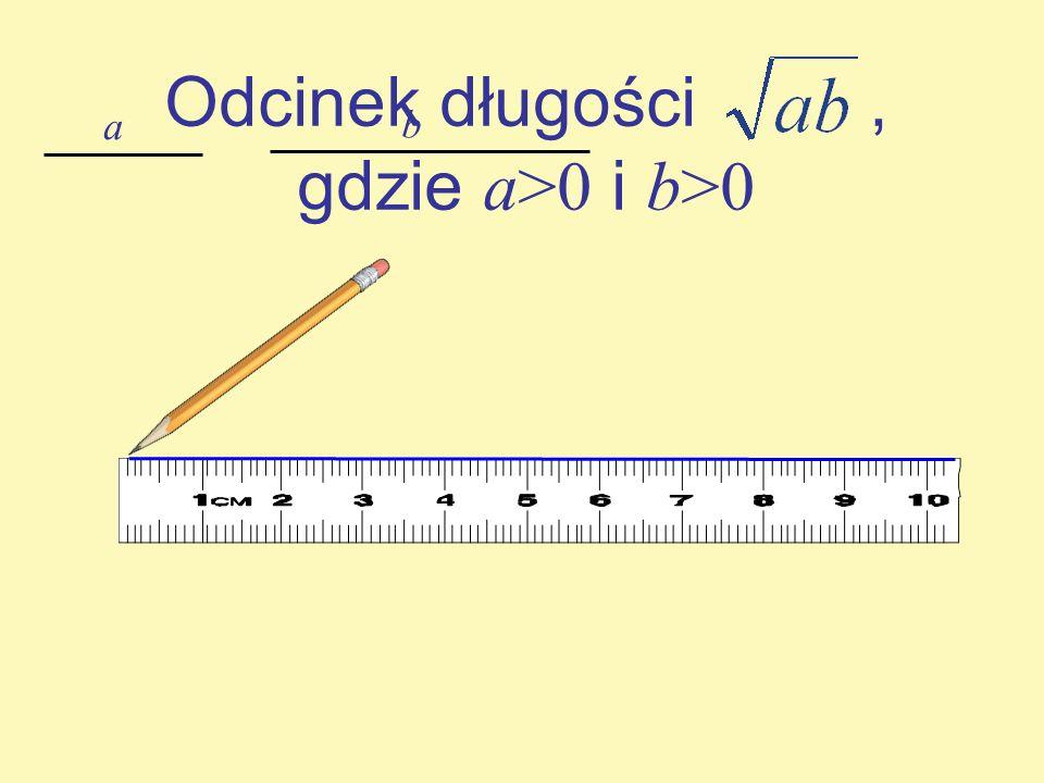 Odcinek długości , gdzie a>0 i b>0