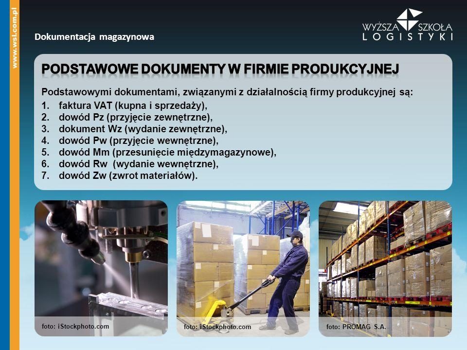 Podstawowe dokumenty w firmie produkcyjnej