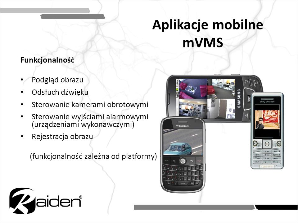 Aplikacje mobilne mVMS
