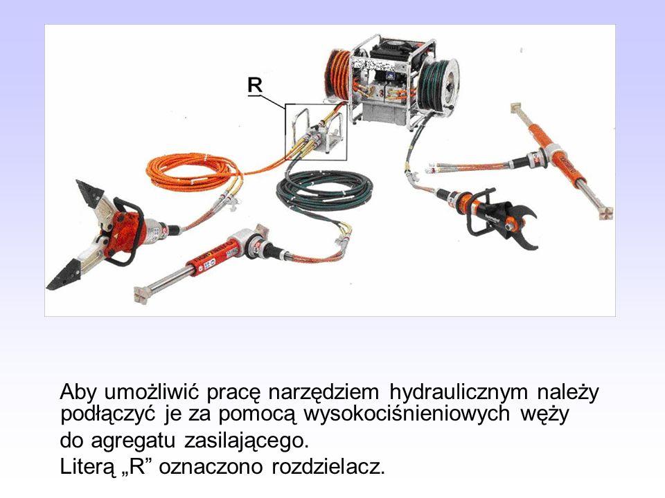 Aby umożliwić pracę narzędziem hydraulicznym należy podłączyć je za pomocą wysokociśnieniowych węży