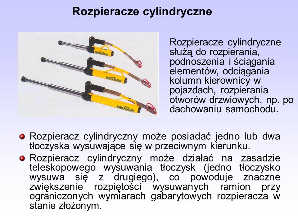 Rozpieracze cylindryczne