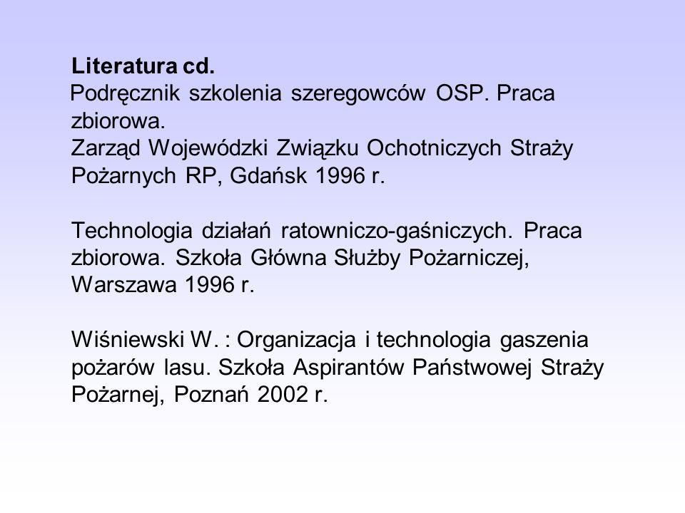 Literatura cd. Podręcznik szkolenia szeregowców OSP. Praca zbiorowa