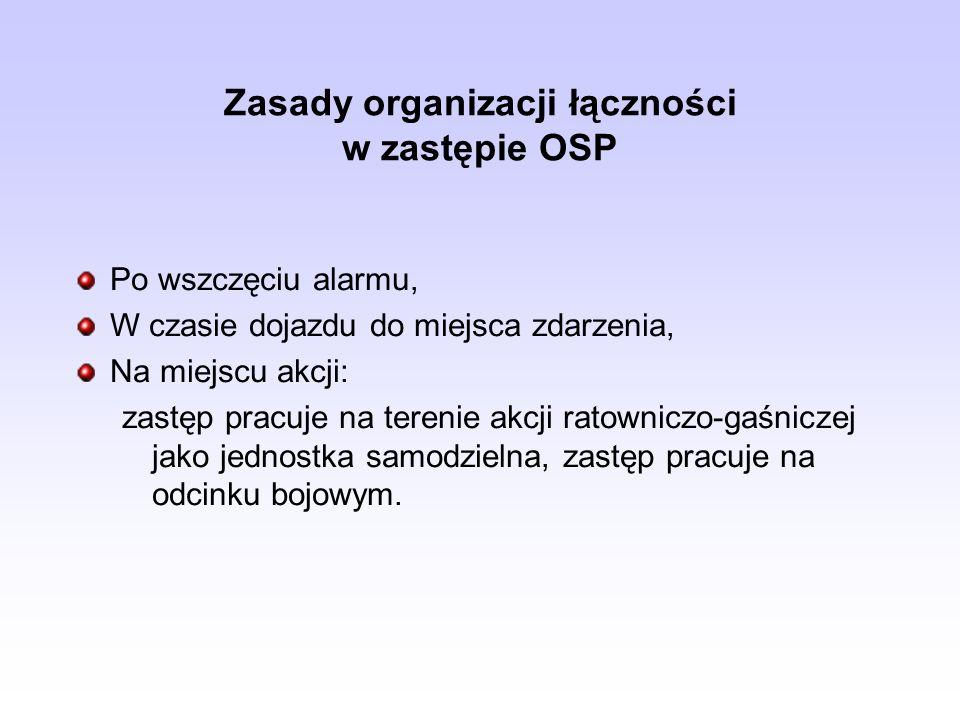 Zasady organizacji łączności w zastępie OSP
