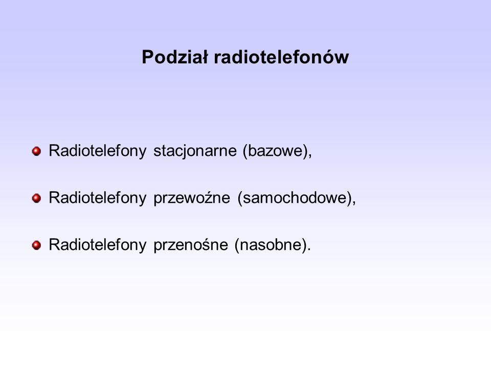 Podział radiotelefonów