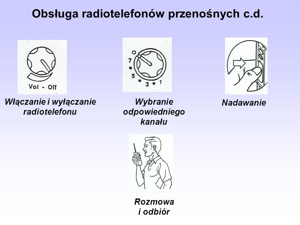 Obsługa radiotelefonów przenośnych c.d.