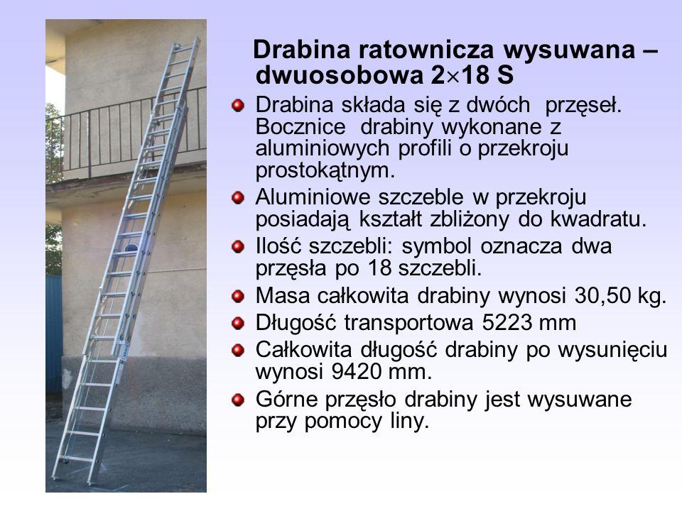 Drabina ratownicza wysuwana – dwuosobowa 218 S