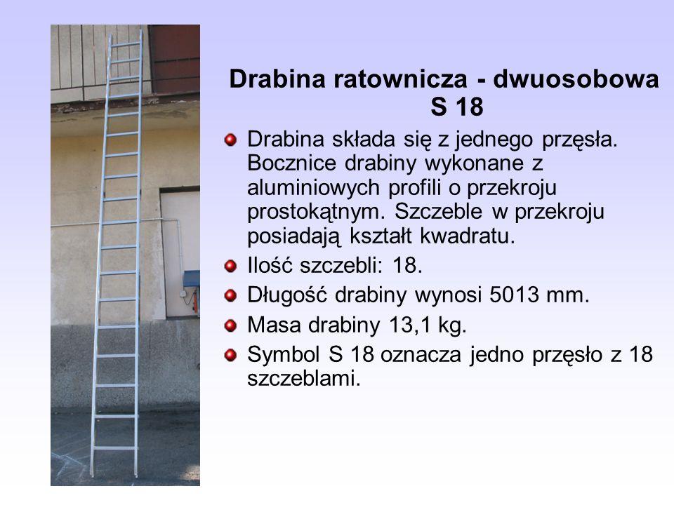 Drabina ratownicza - dwuosobowa S 18