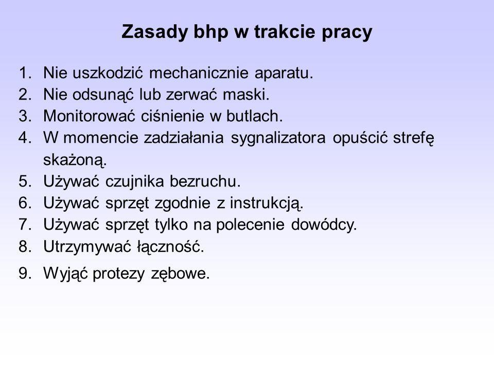 Zasady bhp w trakcie pracy