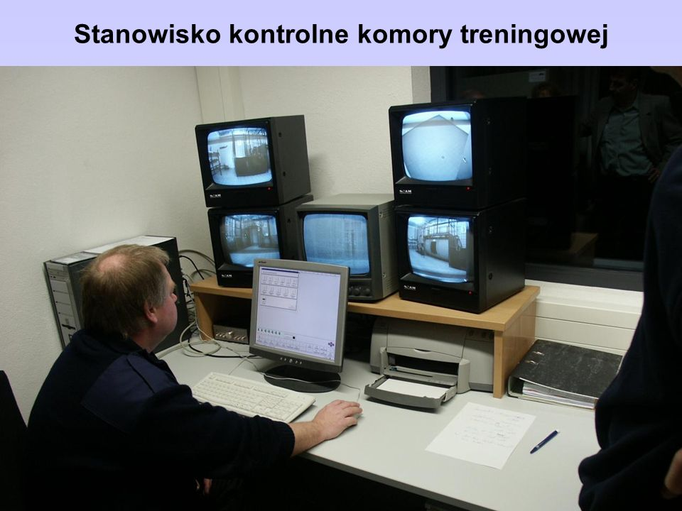 Stanowisko kontrolne komory treningowej