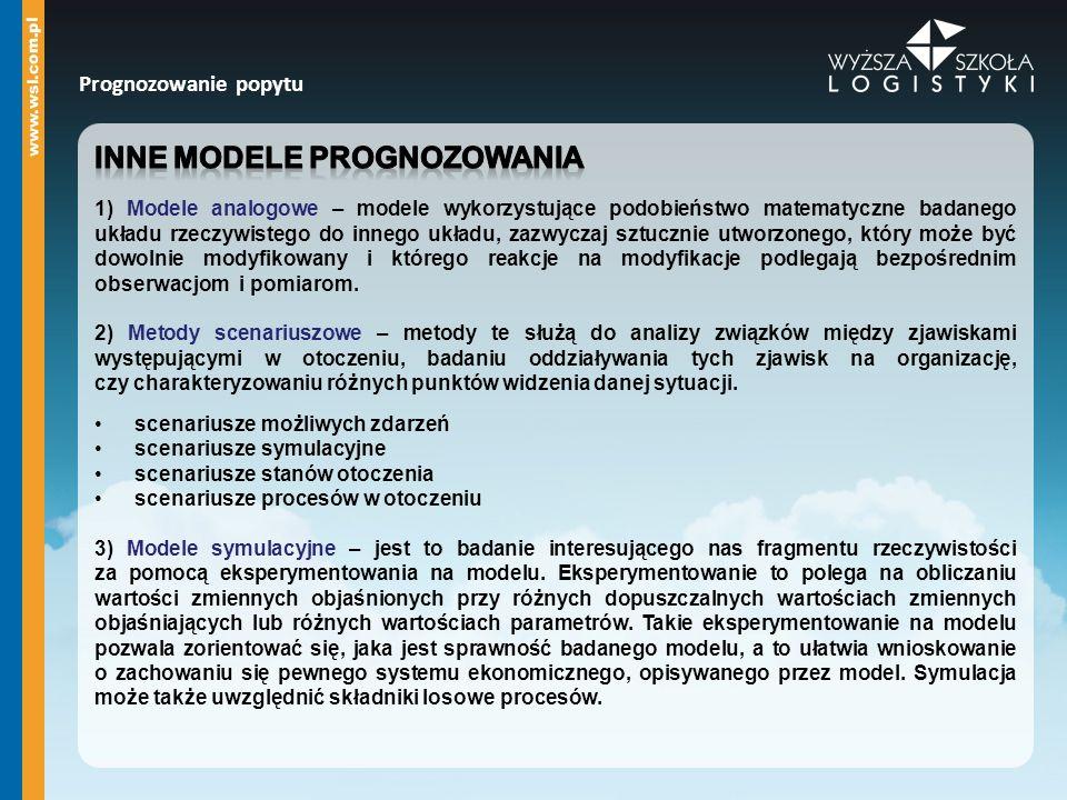 inne modele prognozowania