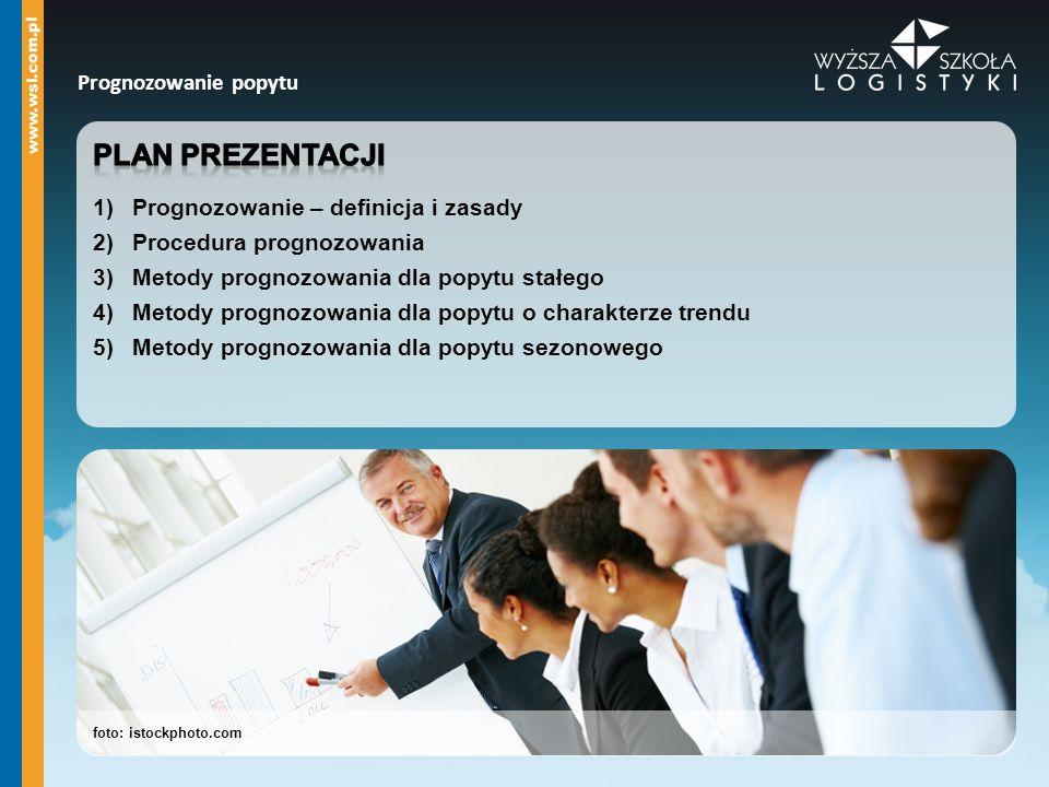 Plan prezentacji Prognozowanie popytu