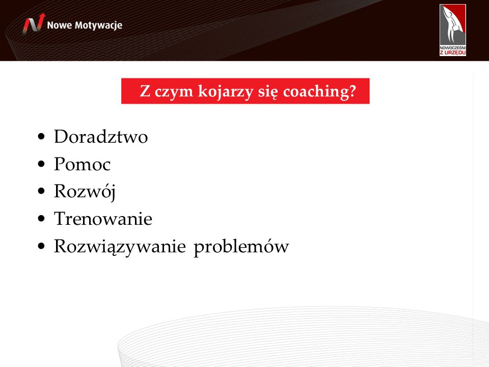 Z czym kojarzy się coaching