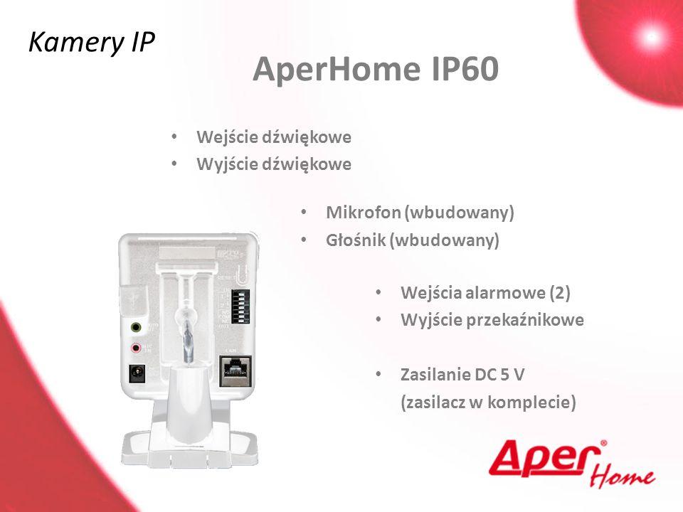 AperHome IP60 Kamery IP Wejście dźwiękowe Wyjście dźwiękowe