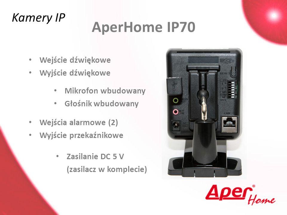 AperHome IP70 Kamery IP Wejście dźwiękowe Wyjście dźwiękowe