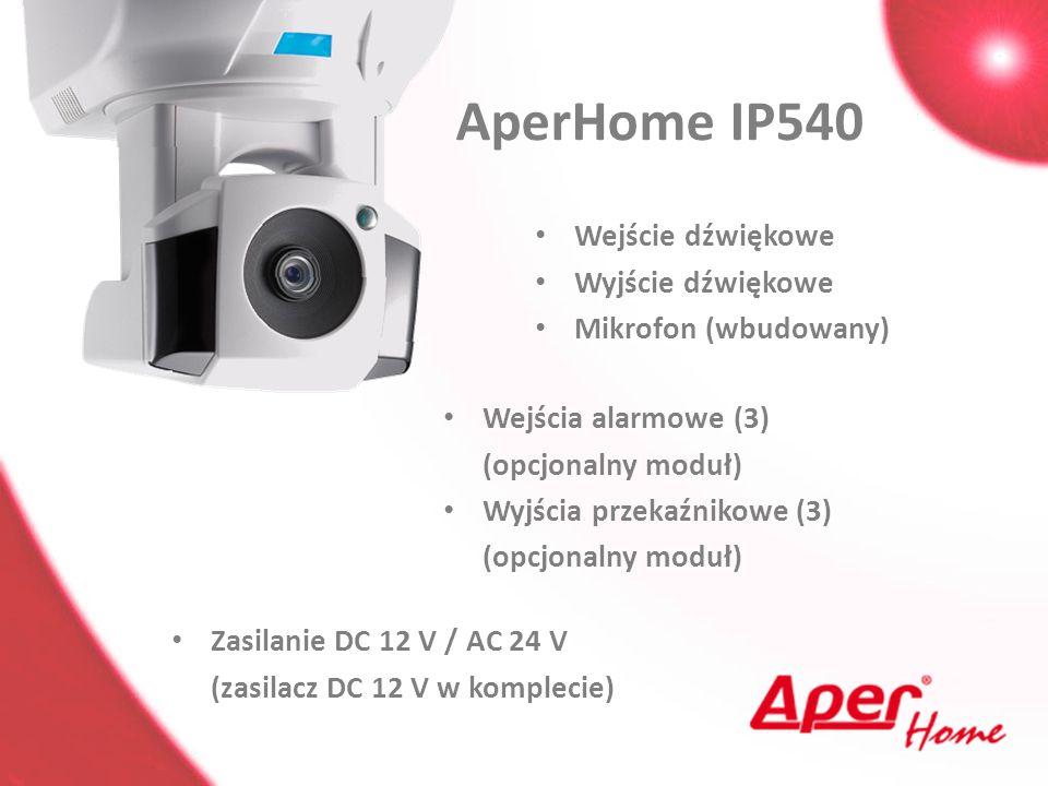 AperHome IP540 Wejście dźwiękowe Wyjście dźwiękowe