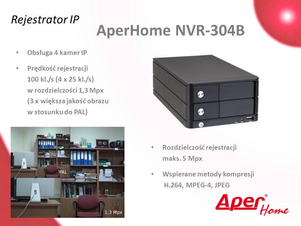 AperHome NVR-304B Rejestrator IP Obsługa 4 kamer IP