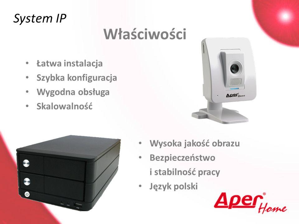 Właściwości System IP Łatwa instalacja Szybka konfiguracja