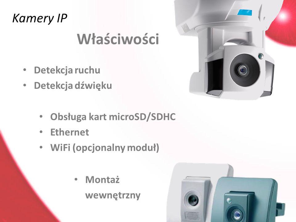 Właściwości Kamery IP Detekcja ruchu Detekcja dźwięku