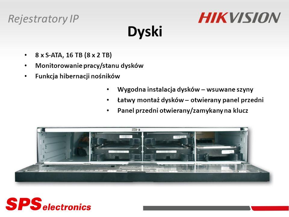 Dyski Rejestratory IP 8 x S-ATA, 16 TB (8 x 2 TB)