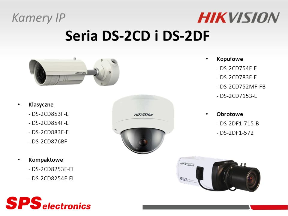 Seria DS-2CD i DS-2DF Kamery IP Kopułowe - DS-2CD754F-E - DS-2CD783F-E