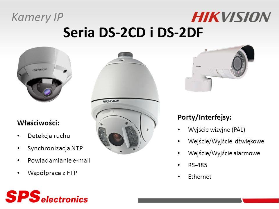 Seria DS-2CD i DS-2DF Kamery IP Porty/Interfejsy: Właściwości: