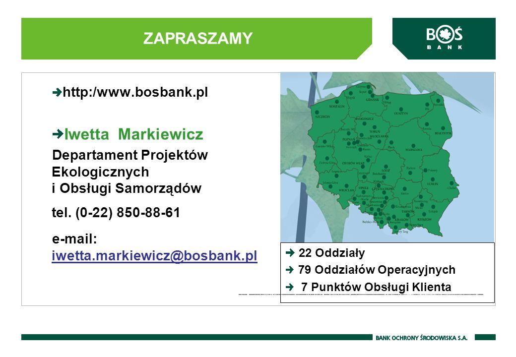 ZAPRASZAMY Iwetta Markiewicz http:/www.bosbank.pl