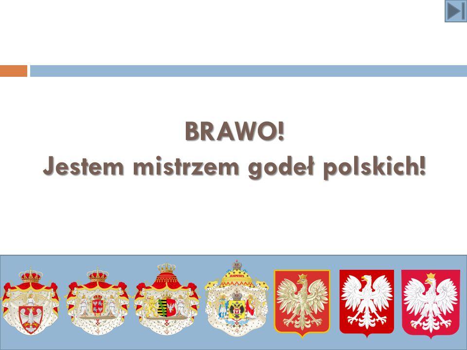 BRAWO! Jestem mistrzem godeł polskich!