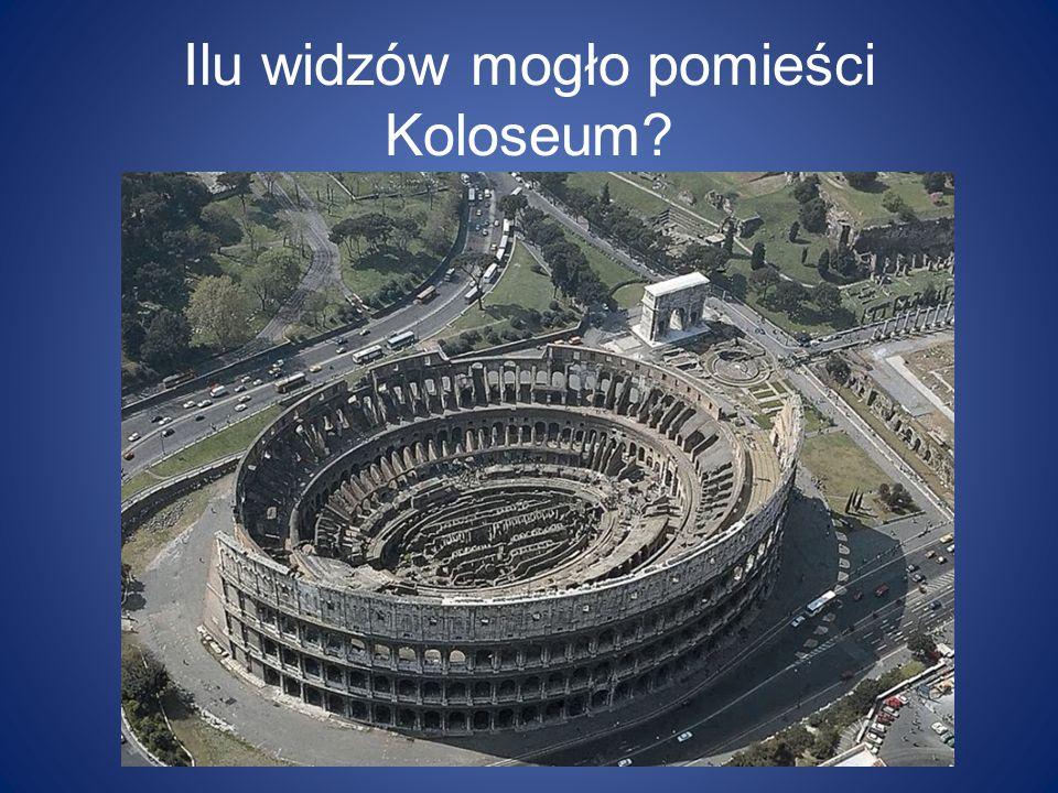 Ilu widzów mogło pomieści Koloseum