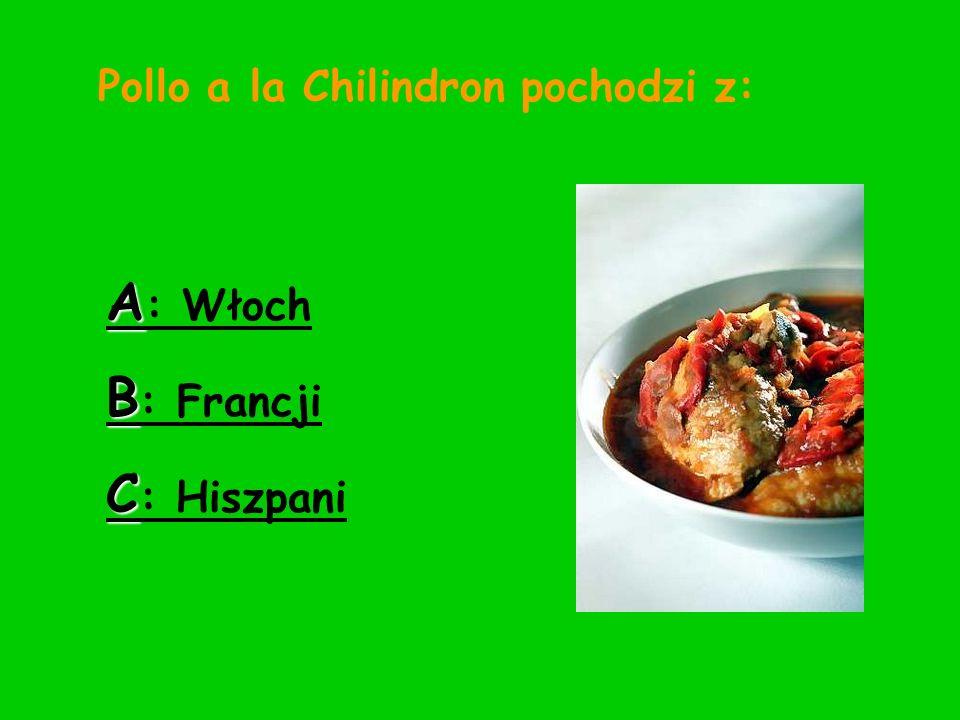 Pollo a la Chilindron pochodzi z: