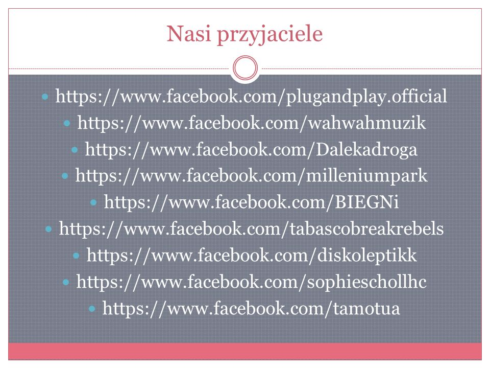 Nasi przyjaciele https://www.facebook.com/plugandplay.official