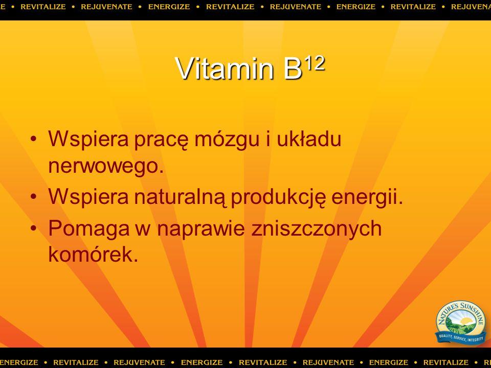 Vitamin B12 Wspiera pracę mózgu i układu nerwowego.