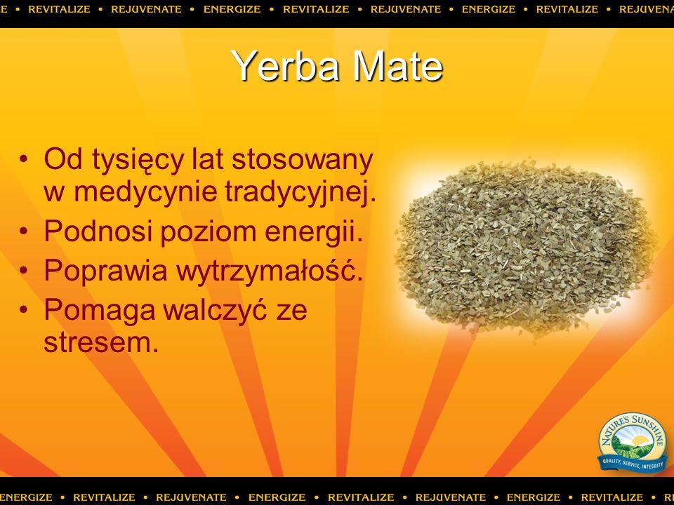 Yerba Mate Od tysięcy lat stosowany w medycynie tradycyjnej.