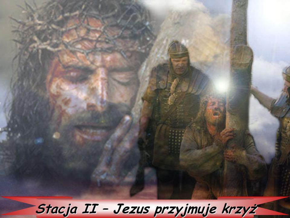 Stacja II – Jezus przyjmuje krzyż