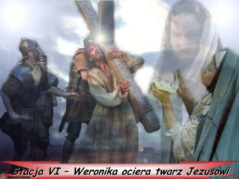 Stacja VI – Weronika ociera twarz Jezusowi