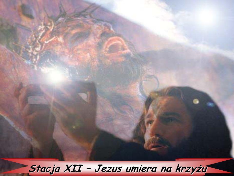Stacja XII – Jezus umiera na krzyżu
